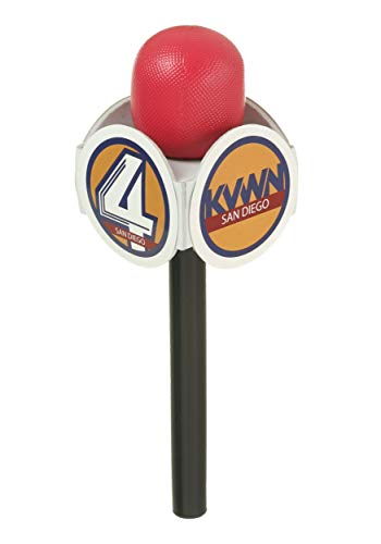 Ron Burgundy And Veronica Costumes - FunCostumes Anchorman Microphone Prop