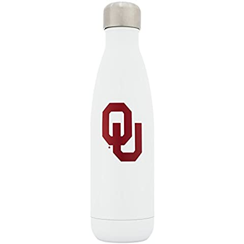 Simple Modern University of Oklahoma 17oz Wave Water Bottle - Vacuum Insulated Stainless Steel Boomer Travel Mug - Sooners OU Tailgating Hydro Cup College Flask - - Boomer Football