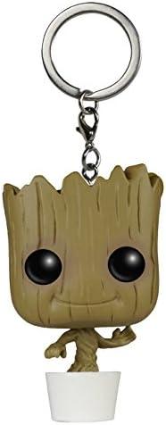 Llavero de Baby Groot - La Figura de acción de Guardianes de la Galaxia de Marvel | Gadget para los Seguidores de Bobblehead Dancing Groot| Regalos ...