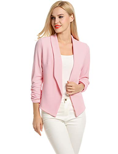 Womens Oversize Pink Blazers for Women Plus Size (XXL, Pink)]()