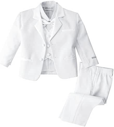 Spring Notion Baby Boys' White Classic Fit Tuxedo Set, No Tail