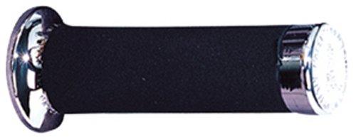 Black Progrip PA086000CR02 MANOPOLE Articolo 860 MM 22//25 Custom Gomma Nero Anelli CROMATI Argento