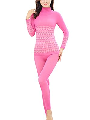 LNJLVI Women's Thermal Underwear Turtleneck Slim Fit Long Sleeve Set