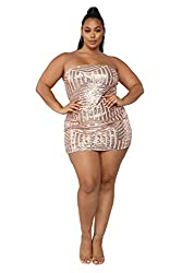 Sequin Plus Size Bodycon Stretchy Dress