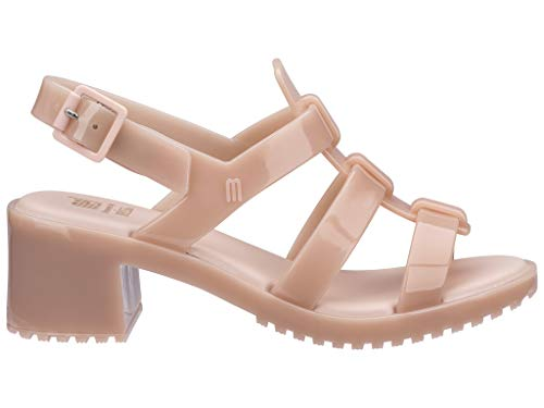 Mini Melissa Girl's Mel Flox High (Little Kid/Big Kid) Light Pink Matte 13 M US Little Kid (Heel Mini Platform Sandal)