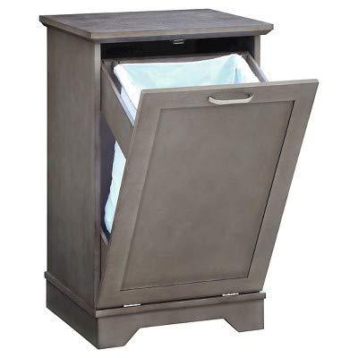 - Threshold Home Furnishings Laundry Tilt Out Wood Hamper - Gray