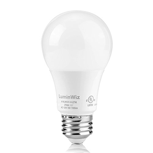 A 19 Led Bulb, LuminWiz 9W 2700K 700lm UL-Listed LED (Warm White Light Bulb)