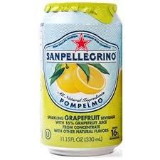Sanpellegrino Grapefruit Sparkling Fruit Beverage, 11.15 fl oz. Cans (48 Count) ...