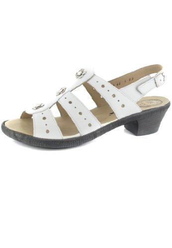 7c0a52ab4c SALE ROMIKA Hanna 03 Damen Sandalen Weiß Schuhe in Übergrößen