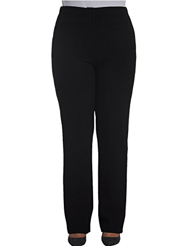 Chicwe Womens Plus Size Curvy Fit Boot Cut Pants - Casual and Work Pants Trousers