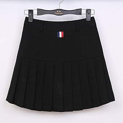 GDNTCJKY Faldas para Mujer Falda Plisada De Cintura Alta Faldas ...