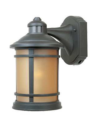 Oil Rubbed Bronze 1 Light 7in. Cast Aluminum Wall Lantern with Motion Detector by Designers Fountain
