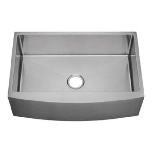 "PROFLO PF1B3117A Sault 33"" Farmhouse Single Basin Stainless Steel Kitchen Sink"