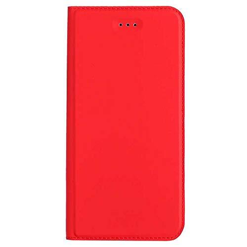 Coque Huawei Mate 9, Bear Village® Étui en Cuir avec Emplacements pour Cartes et Monnaie, Housse à Rabat Portefeuille Housse pour Huawei Mate 9 (#3 Rouge)