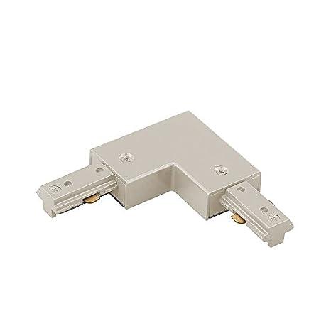 White WAC Lighting LI-DEC-WT L Track Dead End I Connector