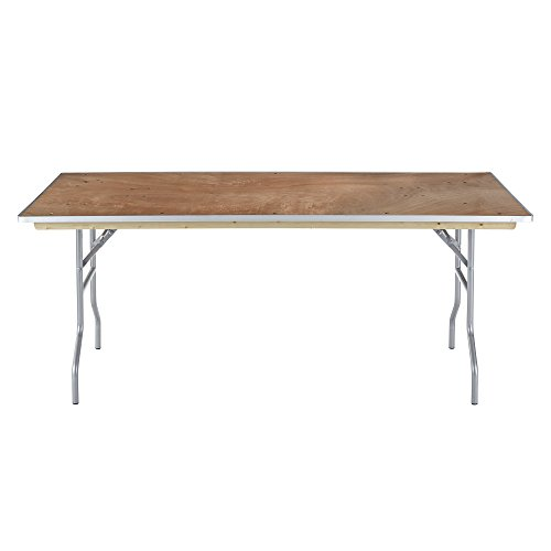 Iceberg 56220 Banquet Plywood Folding Table, Natural, 30 x 72 Inches by Iceberg (Image #1)