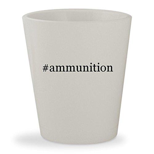 #ammunition - White Hashtag Ceramic 1.5oz Shot Glass