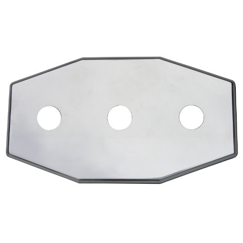 Simpatico 31655C Stainless Steel Remodel Plate, 3 Hole Fits any 8-Inch Center, Tub and Shower Valve, Chrome Plated