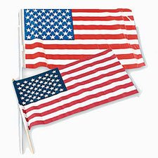 3'x5' Outdoor Quality Poly Cotton U.S. Flag 5' Poly Cotton Flag
