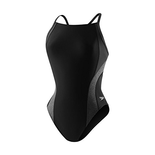 Racing Womens Swimsuit (Speedo Women's Relaunch Flyback One Piece Swimsuit, Black,14/40)