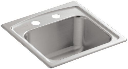 - KOHLER K-3349-2-NA Toccata Self-Rimming Entertainment Sink, Stainless Steel