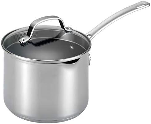 Circulon 77882 Genesis Sauce Pan, 3-Quart, Stainless Steel