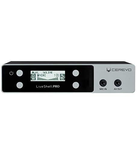 Cerevo LiveShell PRO Digital Video Streamer with Stereo Microphone Input and H.264 Encoder - WiFi or Wired Connection - Compatible with Ustream, Niconico, YouTube, Facebook Live, Twitch, RTMP Servers