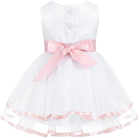 Baby Blumen Mädchen Kleid Hochzeit Party Kleider mit Bloomers Sets 0-24 Monate
