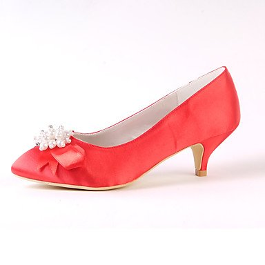 Dress Basic Bowknot Spring Heel Pump 7 Party 5 Rhinestone 5 Pearl amp;Amp; Ruby 5 Pump Basic Wedding Silk US6 Evening RTRY Fall Low CN37 UK4 Shoes Ivory Women'S Wedding EU37 w7a7YO