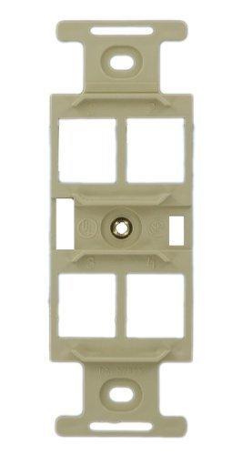 Leviton 41087-QIP QuickPort Duplex Type 106 Insert, 4-Port, Ivory