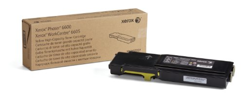 (Genuine Xerox High Capacity Yellow Toner Cartridge for the Phaser 6600 or WorkCentre 6605,  106R02227)