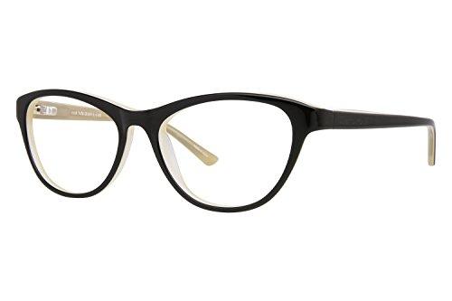 ann-taylor-at312-eyeglass-frames-frame-black-ivory-size-53-17mm