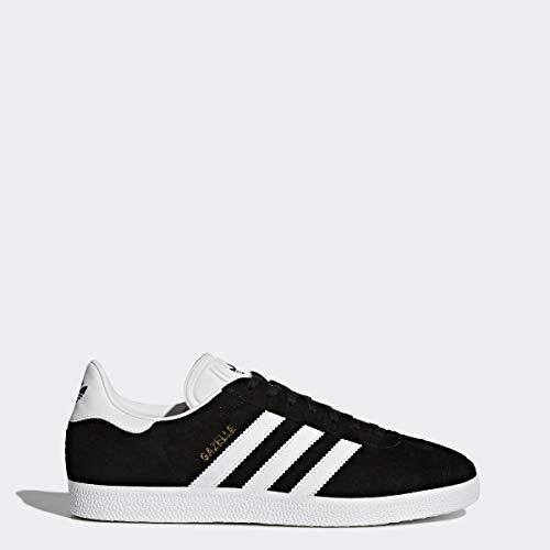 Adidas Originals Men's Gazelle Lace-up Sneaker,Black/White/Gold Met.,9 M US (Adidas Gazelle Og Leather Trainers In Burgundy White)