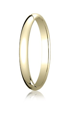 Womens 14K Yellow Gold, 2.5mm Traditional Dome Oval Ring