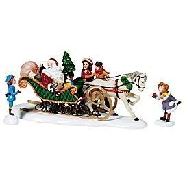 Dept 56 Season's Bay **A Sleigh Ride With Santa** - 56 Dept Santa
