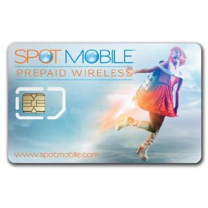 Spot Mobile Prepaid Wireless Activation Kit including Sim Card