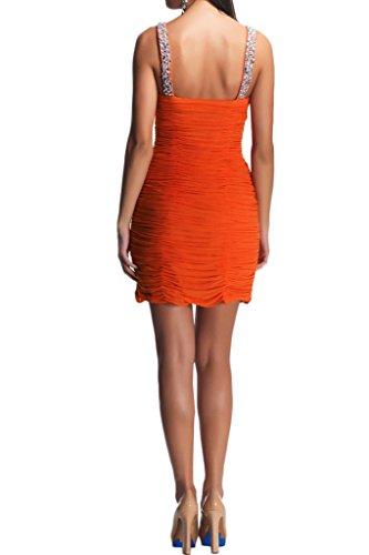 La_Marie Braut Orange Traube Beliebt Steine Neckholder Chiffon Abendkleider Partykleider Cocktailkleider Geraft Mini Kurz Traube 6HMspql