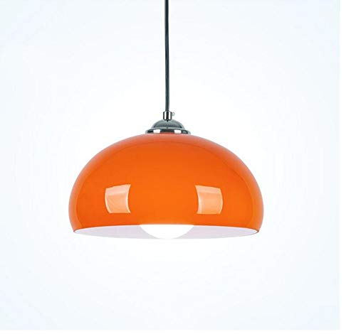 Retro Light Simplicity Orange Glass Pendant Lights Fixture Chandelier Classic Nostalgic Bedroom Living Room Dining Room Height-Adjustable E27 Edison Glass Ceiling Hanging Lamp