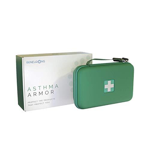 Asthma Inhaler Case for Kids and Adults. Portable Medical Carry case Holds Inhaler, Spacer, Chamber, mask, medications for Asthma/Allergy. Protective Bag for Handbag, car, School, Travel