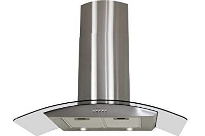 "FIREBIRD New 30"" European Style Wall Mount Stainless Steel Range Hood Vent W/Push Button Control FBTK-S307H-75"