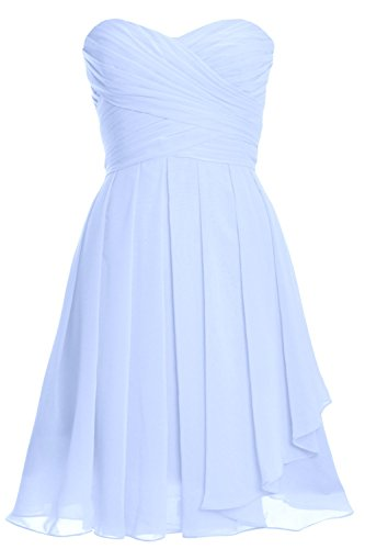 up Women Dress Party Cocktail Lace Gown Short Bridesmaid Strapless MACloth Himmelblau RwtdOw