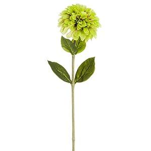 """29"""" Zinnia Silk Flower Stem -Light Green (Pack of 12) 68"""