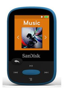 "Sandisk SDMX24-008G-A46B 8gb 1.44"" Clip Sport Mp3 Players (Blue) from SanDisk"