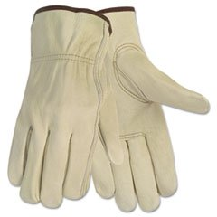 Memphis 3215M Economy Leather Driver Gloves Medium Beige Pair Economy Drivers Glove