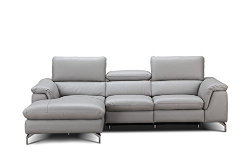 (J and M Furniture 18234-LHFC Serena Premium Leather Sectional Chaise)