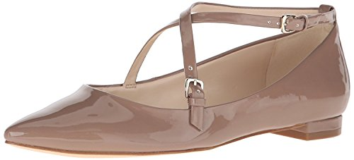 Nine West WomenS Anastagia Synthetic Pointed Toe Flat, Natural, 38 B(M) EU/6 B(M) UK