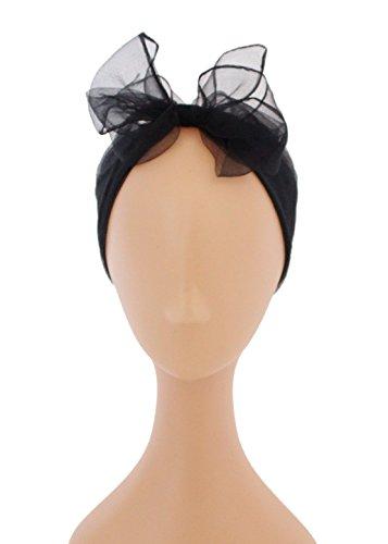 Pinup Vintage Reproduction Nylon Hair Scarf (Black)