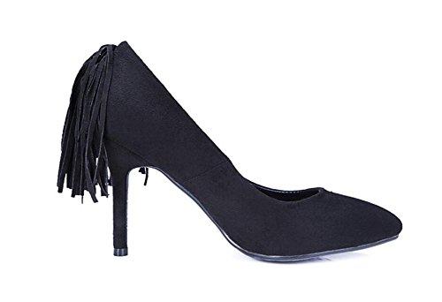 Mund Schuhe Zeigte Diamant Hochhackige Flachen Metall Zehe XIE Troddel Frauen Schuhe EqIx0v