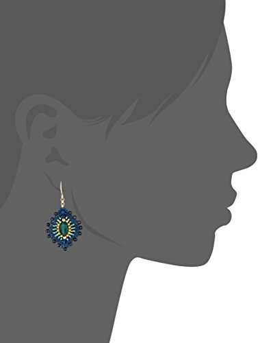 Miguel Ases Blue Gold Stone Lotus Earrings by Miguel Ases (Image #2)