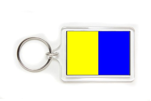 - Kilo Maritime Signal Flag Acrylic Key Ring Double-sided Keyring Keychain Medium